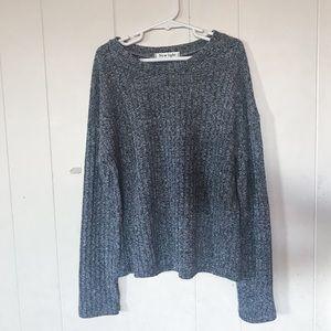 ROMWE thin heathered grey sweater